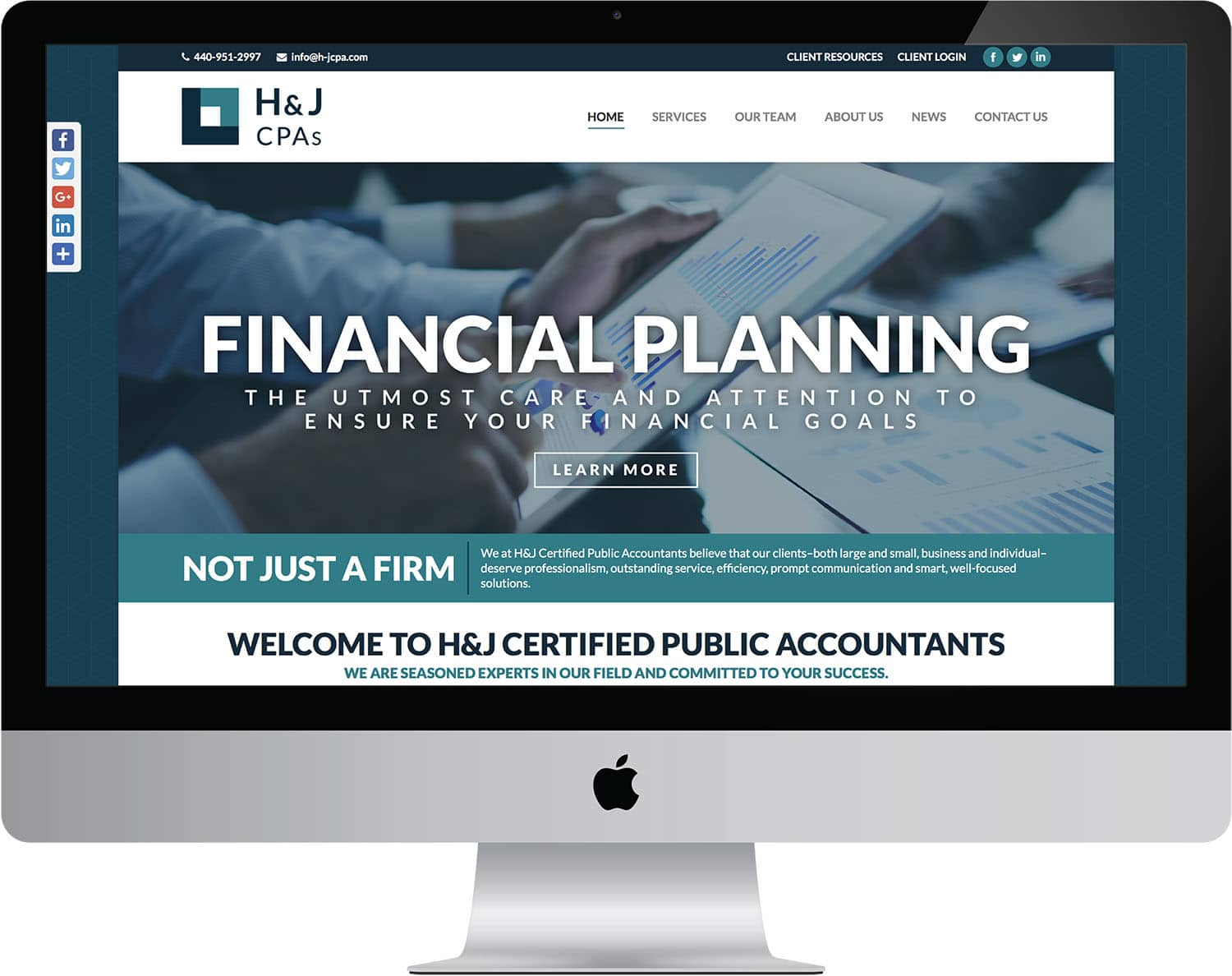 web design website development h&j cpas