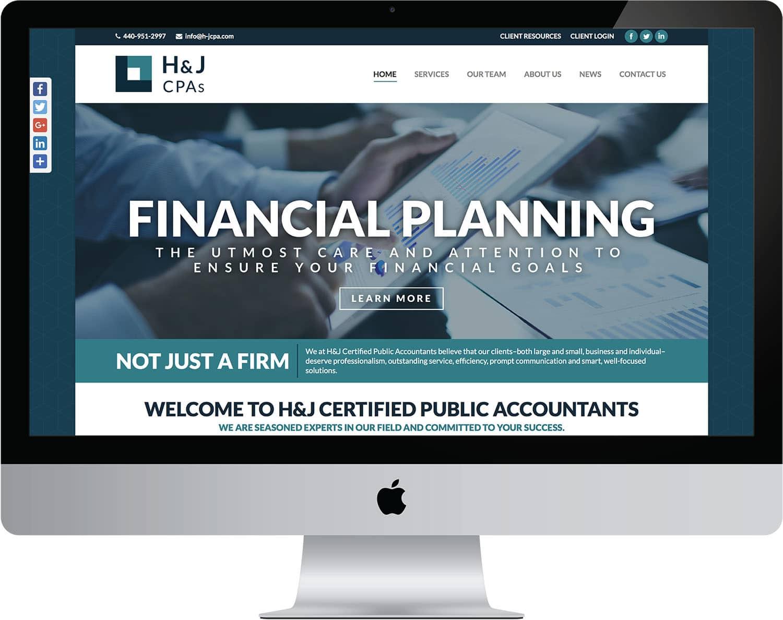 web design website development h&j cpas