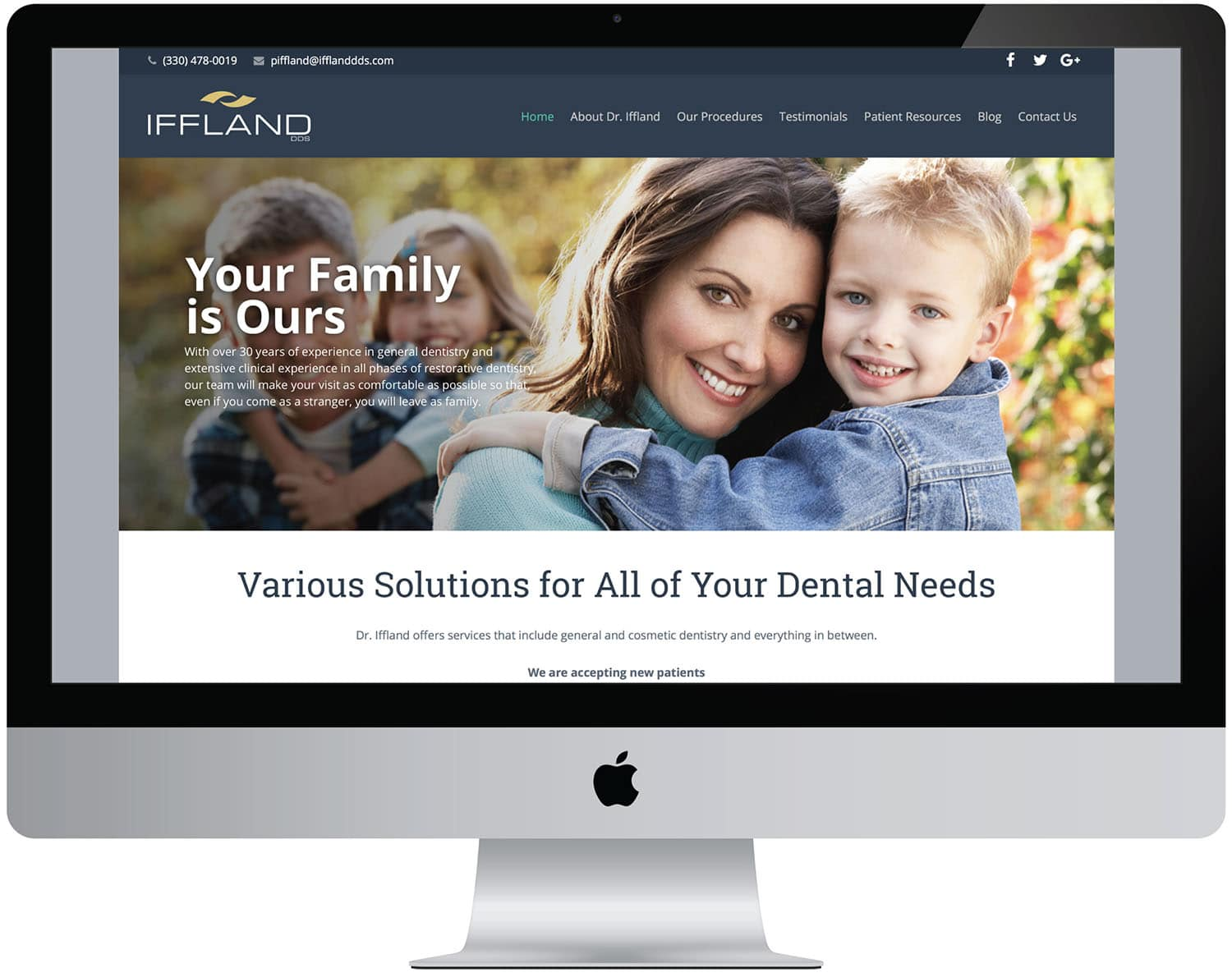 marketing seo content computer web Iffland dds dentistry