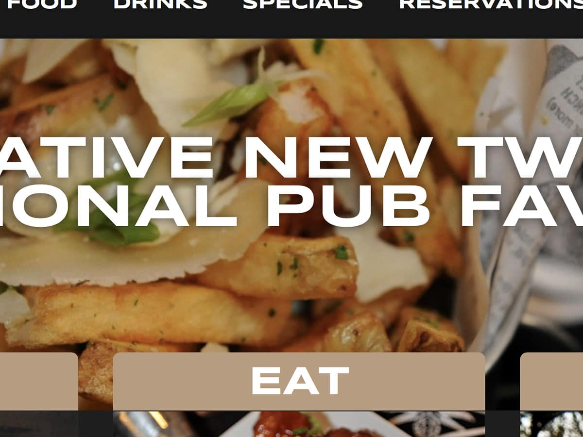 pub frato, restaurant, website design, wordpress, marketing